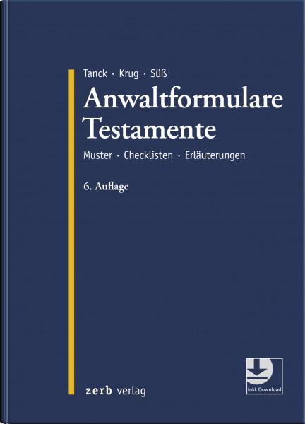Anwaltformulare Testamente